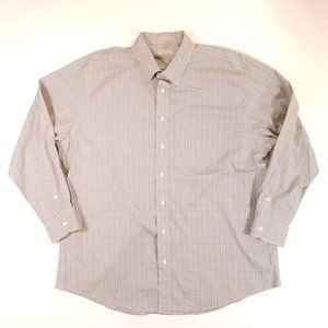 Nordstrom Button Up L/S Gray Check Cotton Shirt